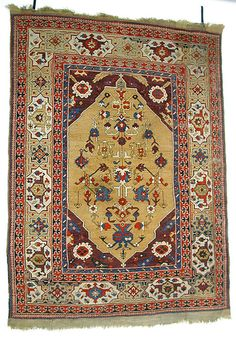 Carpet  Date:     17th century Geography:     Turkey Culture:     Islamic Medium:     Wool (warp, weft and pile); symmetrically knotted pile