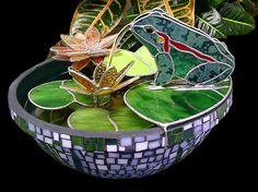 Stained glass fountain on my to-do list.