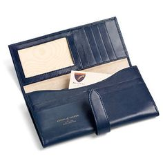 London Ladies Purse Wallet in Smooth Navy & Cream Suede - Luxury Leather Wallets, Leather Handbags, Cufflinks - British Luxury Leather Goods from Aspinal of London
