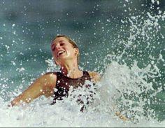 Princess Diana on holiday at Nevis Island, Caribbean 9 Jan 1993