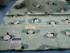 panda tenugui  japanese bandana