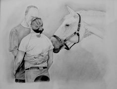 Custom commissioned artwork done of unique and possibly best marriage proposals.  Marriage proposal goals. Follow link for more information about ordering your own custom artwork. Perfect gift for the pet lover or horse lover.