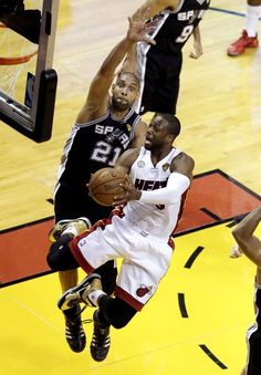 Tim Duncan. Spurs beat the Heat 92-88 in Game 1 of the 2013 NBA Finals