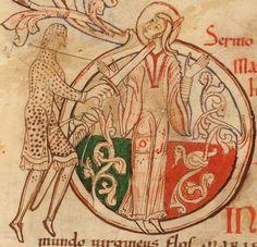 Manuscript:Cambrai BM MS.528 - Homiliaire   Folio:132v  Location:France  Dating:1101 - 1200  Institution:Médiathèque municipale de Cambrai  Image Source:http://www.enluminures.culture.fr/Wave/savimage/enlumine/irht11/IRHT_161396-p.jpg