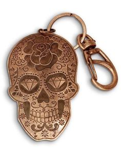 Sugar Skull in Copper