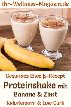 Make your own banana protein shake: low-carb recipe for healthy protein shakes . - Make your own banana protein shake: Low-carb recipe for healthy protein shakes to lose weight with - Low Carb Protein Shakes, Low Carb Smoothies, Herbalife, Soul Food, Low Carb Recipes, Lose Weight, Desserts, About Me Blog, Wellness