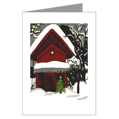 Japanese Style House Christmas Greeting Cards
