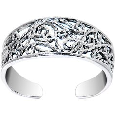 Sterling Silver 925 Artistic Scroll Toe Ring | Body Candy Body Jewelry