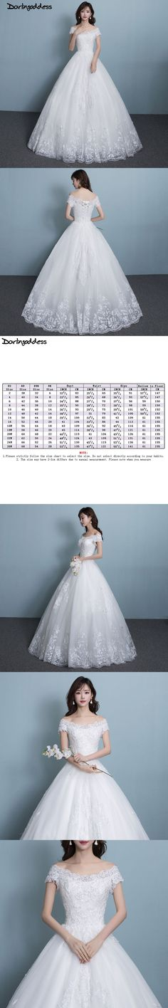 Real Picture Cheap Lace Wedding Dresses Simple White Ball Gown Beading Made In China Plus Size Bride Dress robe de mariage 2017 #laceweddingdresses