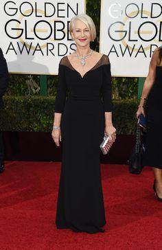 Helen Mirren At The Golden Globes, 2016