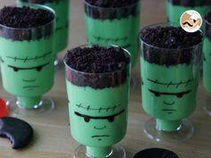 Recette Dessert : Crèmes frankenstein pour halloween par Ptitchef_officiel