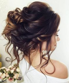 Most Beautiful Updo Wedding Hairstyles with Lush Waves