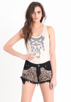 Wild Heart Leopard Shorts by Reverse #threadsence #fashion