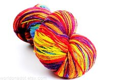 Kauni Wool Yarn, Self-Striping Rainbow, FREE SHIPPING WORLDWIDE