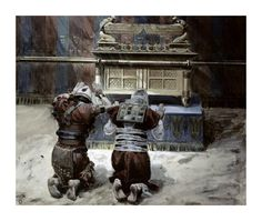 James Tissot - Moses and Joshua In The Tabernacle