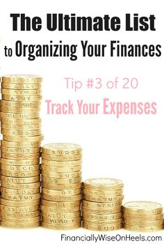 Tip # 3 of 20. You must track your expenses. Yes, all of them! The easiest way to do it is to use a monthly budget plan. Write down everything you spend, even a morning coffee at Starbucks. Do it at least a month, so you can create a full picture where your money is going and whether you need to make some changes in your lifestyle or not. http://www.financiallywiseonheels.com/organizing-your-finances/ #expenses #personalfinance #money