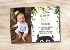 Where the Wild Things Are Birthday Invitation Photo // Let the Wild Rumpus Start - Custom PDF or Printed Invitation  *back design and double sided printing are an additional cost, send us a conversation for details.  >>> WHATS INCLUDED <<< Your purchase includes either; -Digital