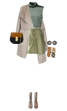 """""""Untitled #546"""" by fanfan-zheng ❤ liked on Polyvore featuring Joseph, Romeo Gigli, TIBI, Chloé, Burberry and Christopher Kane"""