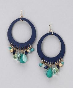 Take a look at this Blue Beach Glass Earrings by Spring Street on #zulily today!