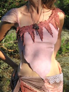 Gypsy feather sexy festival dance top by FractalWings on Etsy, $60.00