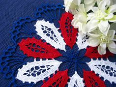 Patriotic Crochet Doily - I love this. But I just don't do doilies.