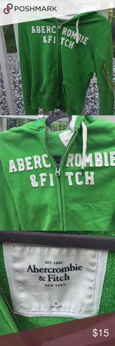 Abercrombie & Fitch Zip Up Hoodie size M Green Abercrombie & Fitch Zip up Hoodie size M. Excellent Condition Abercrombie & Fitch Tops Sweatshirts & Hoodies