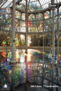 Rainbow pool in Madrid -stunning -love to swim there