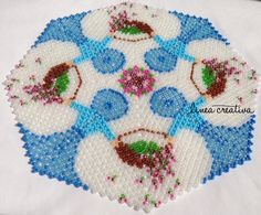 PDF pattern for doily with ladies 20 cm / Schema per centrino con donnine / Anleitung für Decke mit Damen
