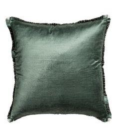 Putetrekk med frynsekanter   Mosegrønn   H&M HOME   H&M NO