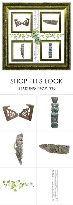 """""""Antique handcarved Corbels"""" by era-chandok ❤ liked on Polyvore featuring interior, interiors, interior design, home, home decor, interior decorating, ferm LIVING, sale, walldecor and offer"""