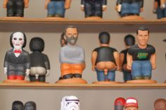 Caganers at the Christmas fairs in Barcelona. Pooping figurines for collectors and/or putting in Nativity scenes. A strange, humorous tradition.