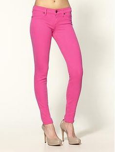 Rich & Skinny hot pink skinny jeans-I just bought these-love colored denim!