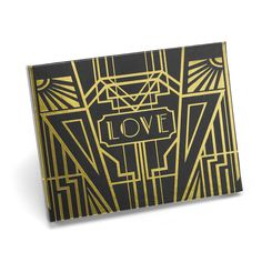 Hortense Art Deco Black with Gold Foil Anniversary or Wedding Guest Book