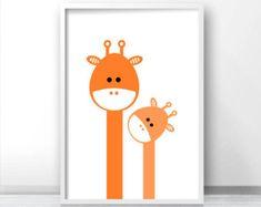 Bear Nursery Art Animal Nursery Print Kids Wall por LimitationFree