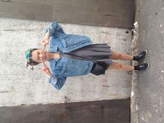 TROPICAL TEENAGER ////////////////////// vintage hair scarf, dress-no brand,                     denim jacket-no brand, shoes-vans