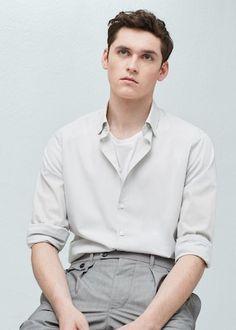 Camisa slim-fit algodón -  Hombre   OUTLET España