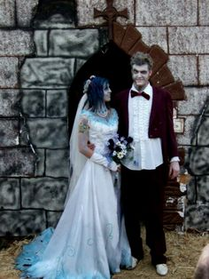 Best wedding ever!  I was corpse bride and my hubs was beetlejuice.  Married at fear farm on October 30, 2008. Everyone dressed up.  Weddings should be fun!