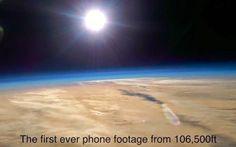 Tecnoneo: Imágenes de la estratósfera de la Tierra tomadas con smartphones