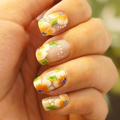 Another one stroke nail art design  #tb by adri.mani