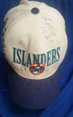 Vintage New York Islanders Fisherman/Lighthouse Logo Hat, Autographed, Rare     eBay