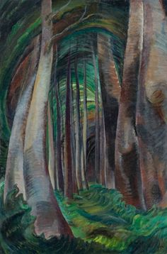 """A painting from Emily Carr's """"Wood Interior"""" series. Credit Trevor Mills/Vancouver Art Gallery"""