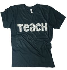 """LOVE these shirts! """"A great teacher takes a hand, opens a mind, and touches a heart"""" You will love our new Teach tees! They are perfect for any teacher! If you are a teacher you will love all of the descriptive words that make up each letter of the word TEACH. These tees would make the perfect gifts for your child's teacher -- the one who inspires them and creates a love for learning in their hearts! The lightweight fabric and comfortable fit m..."""