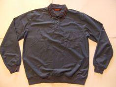 LION'S DEN Men's Shirts Size-M Navy Very Good!  #LIONSDEN #ButtonFront
