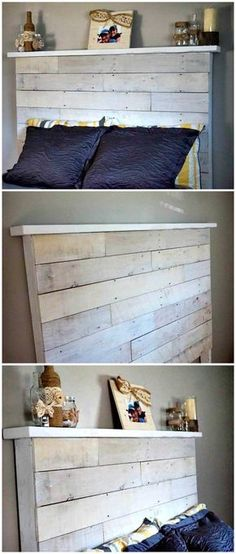 How to Make Your Own DIY Pallet Headboard - 150 Best DIY Pallet Projects and Pallet Furniture Crafts - Page 36 of 75 - DIY & Crafts