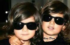 Celine & Rene twin sons