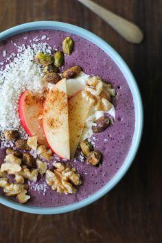 Fruit and Nut Açaí Bowls - a well-balanced superfood breakfast.