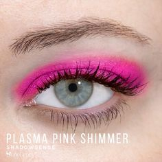 Limited Edition Plasma Pink Shimmer ShadowSense is part of the Color Surge Collection.  It is described as a hot, violet fuscia shade with luminous shimmer.  Get the perfect 80's look at your next night at the club. #neon
