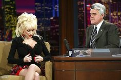 Singer Dolly Parton appears on 'The Tonight Show with Jay Leno' at the NBC Studios on October 9, 2003 in Burbank, California.