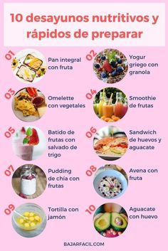 They are 10 easy and healthy breakfasts to make. Delicious and healthy breakfasts. breakfasts de ensalada almuerzos faciles y saludables Healthy Breakfast Recipes, Healthy Snacks, Healthy Recipes, Healthy Eating, Healthy Breakfasts, Healthy Nutrition, Healthy Life, Food Inspiration, Love Food
