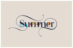 Summer by Moshik Nadav Typography #Typography #Typographer #Fashion #Summer #magazine #Customfont #Font # Fonts